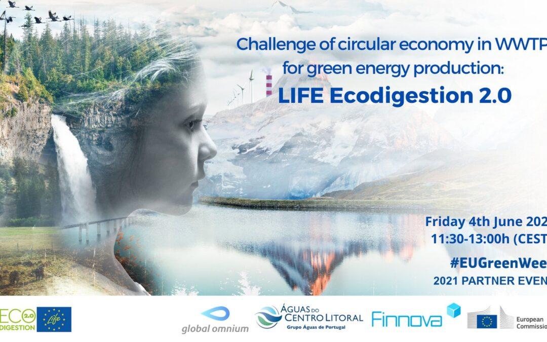El proyecto LIFE Ecodigestion 2.0 de aprovechamiento de residuos vertebró el webinar de la #EuGreenWeek sobre economía circular y producción de energías limpias