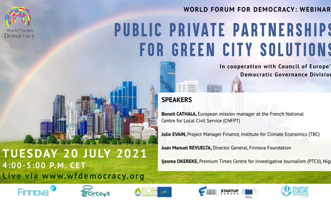 """LIFE ECOdigestion 2.0 took part in the """"Public Private Partnerships for Green City Solutions"""" event held by World Forum for Democracy and the Council of Europe"""