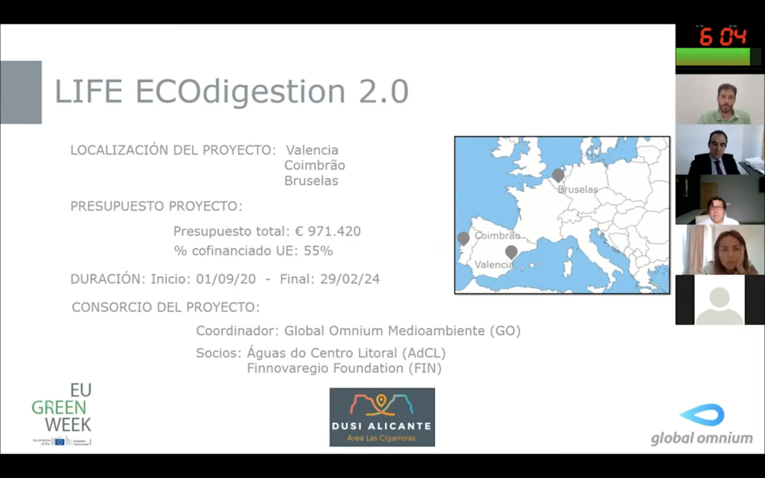 LIFE Ecodigestión 2.0 hace su presentación oficial en la EU Green Week 2020